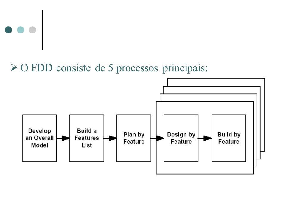 O FDD consiste de 5 processos principais: