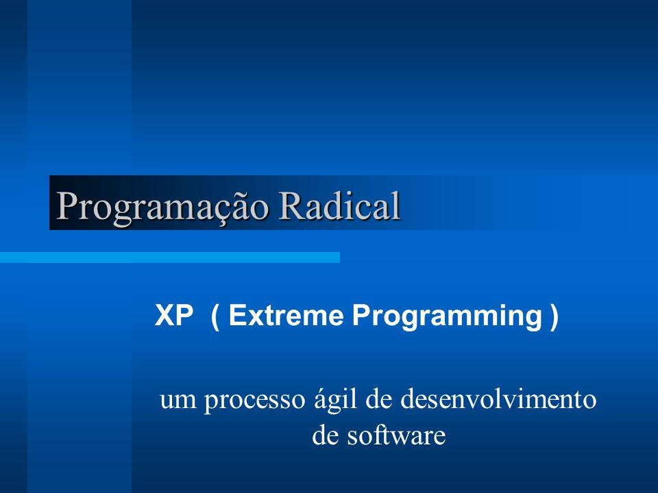 Programação Radical XP ( Extreme Programming ) um processo ágil de desenvolvimento de software