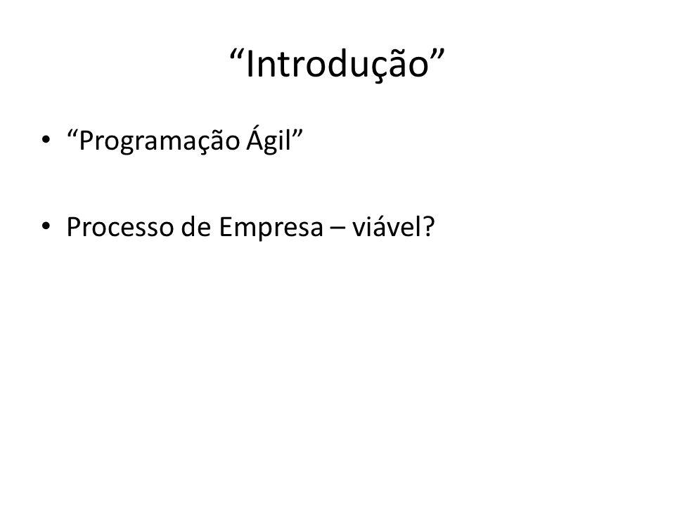 Introdução Programação Ágil Processo de Empresa – viável?