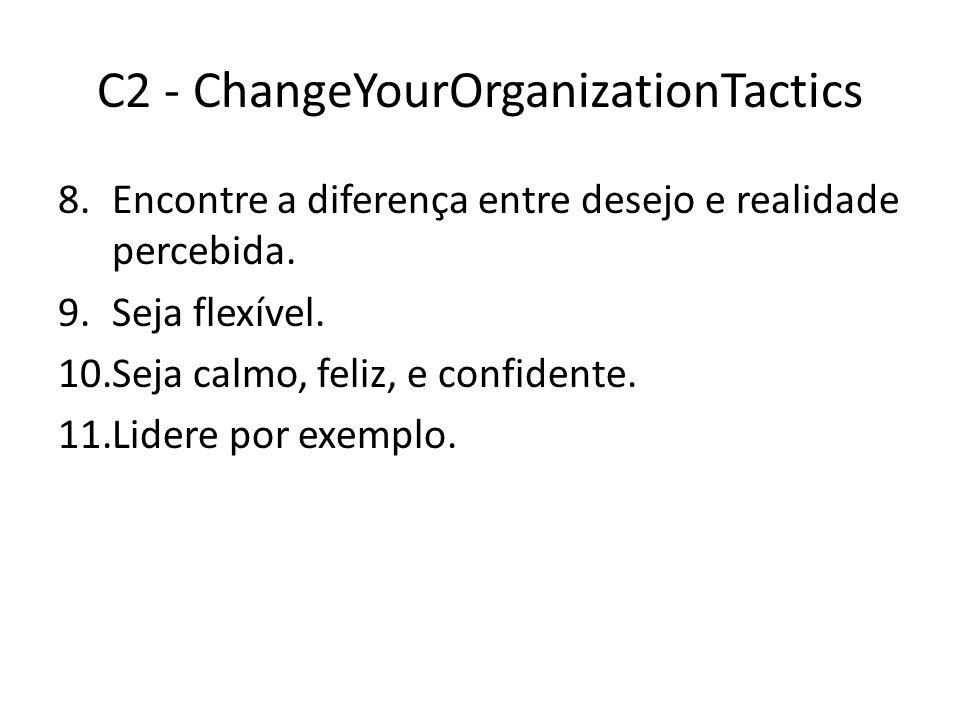 C2 - ChangeYourOrganizationTactics 8.Encontre a diferença entre desejo e realidade percebida.