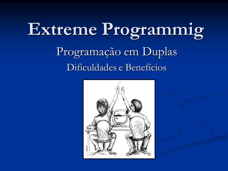 Extreme Programmig Programação em Duplas Dificuldades e Benefícios