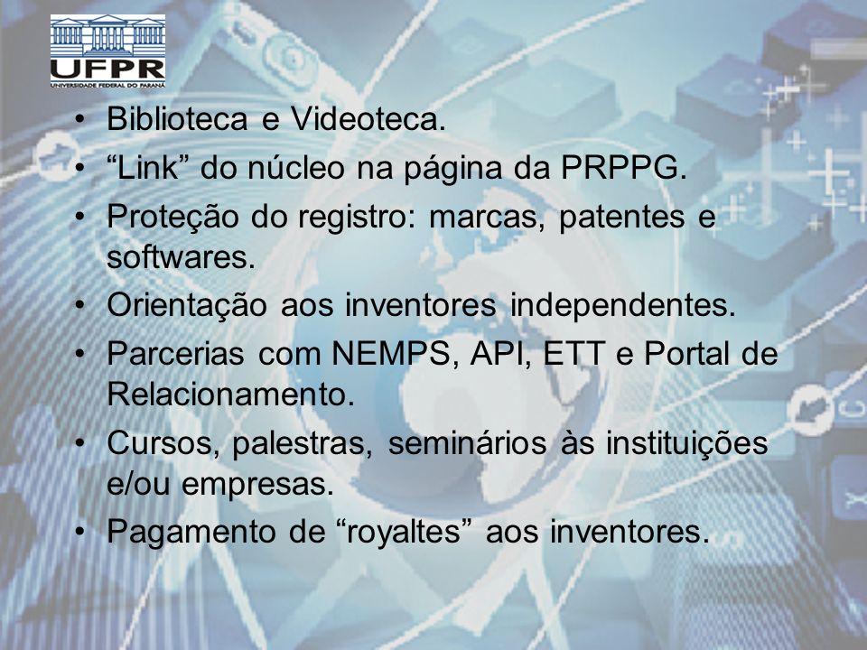 Biblioteca e Videoteca. Link do núcleo na página da PRPPG.