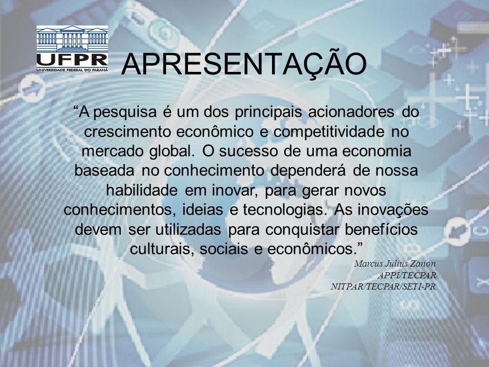 INTRODUÇÃO Brasil Projeto Estímulo à Criação e Consolidação de Núcleos de Propriedade Intelectual e Transferência de Tecnologia em Instituições de Ensino e Pesquisa Brasileiras - INPI, UFRGS e Rede de Tecnologia do RJ, 2002.