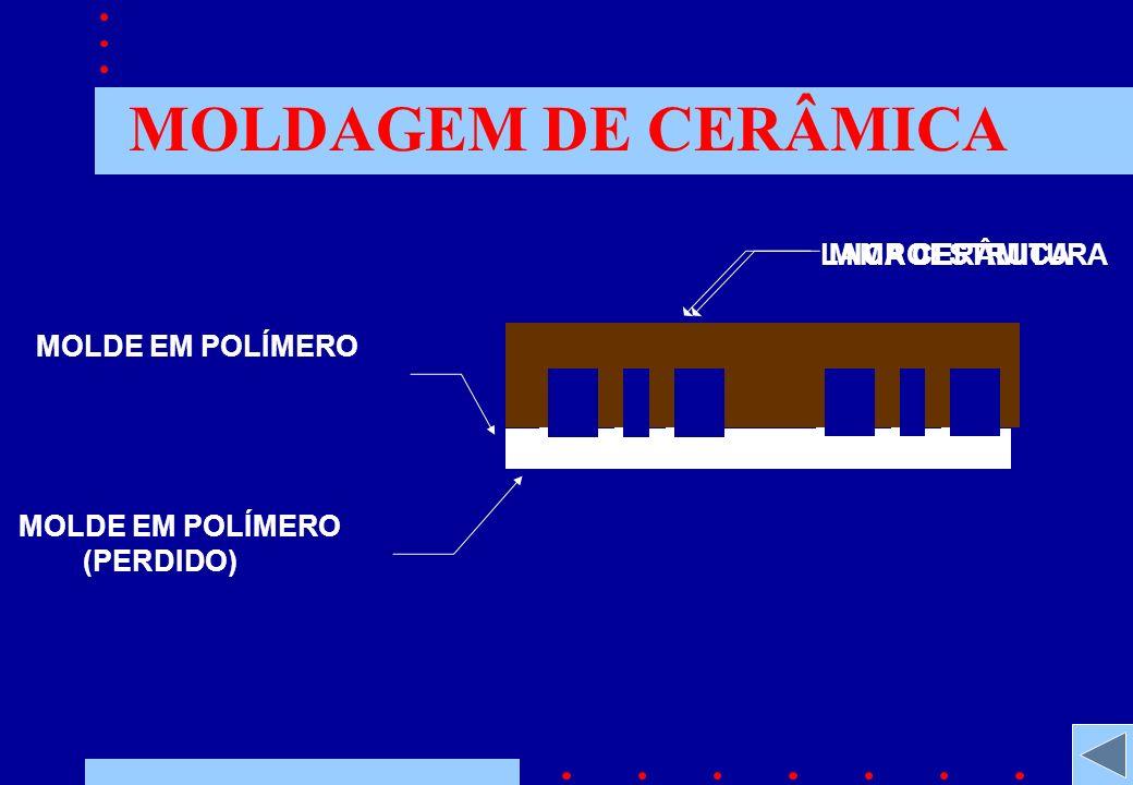 MOLDAGEM DE CERÂMICA MOLDE EM POLÍMERO (PERDIDO) LAMA CERÂMICAMICROESTRUTURA