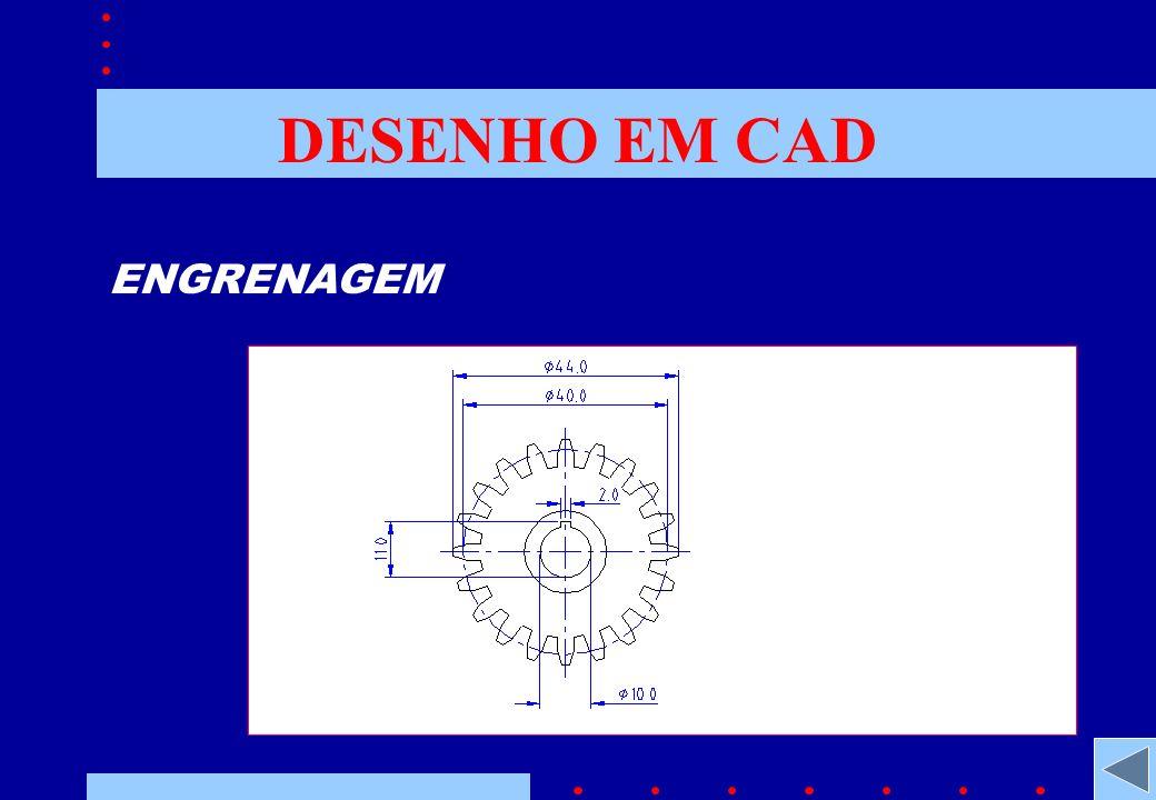 DESENHO EM CAD ENGRENAGEM