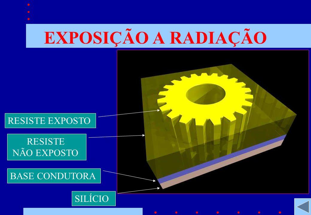 EXPOSIÇÃO A RADIAÇÃO RESISTE NÃO EXPOSTO BASE CONDUTORA SILÍCIO RESISTE EXPOSTO