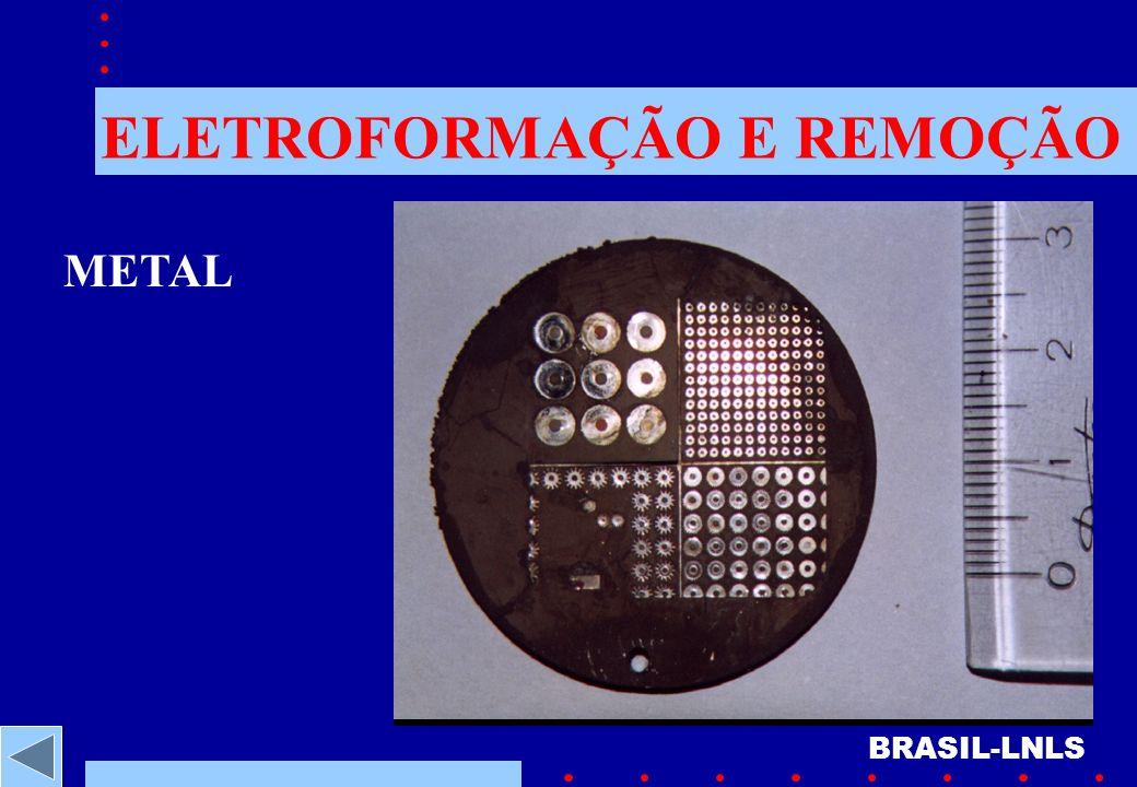 ELETROFORMAÇÃO E REMOÇÃO BRASIL-LNLS METAL