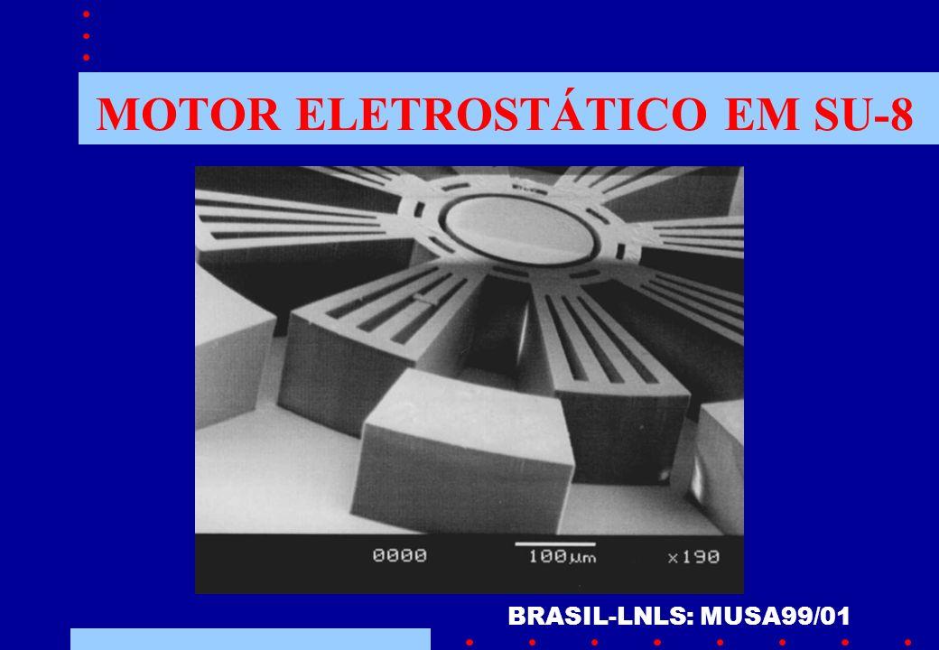 MOTOR ELETROSTÁTICO EM SU-8 BRASIL-LNLS: MUSA99/01