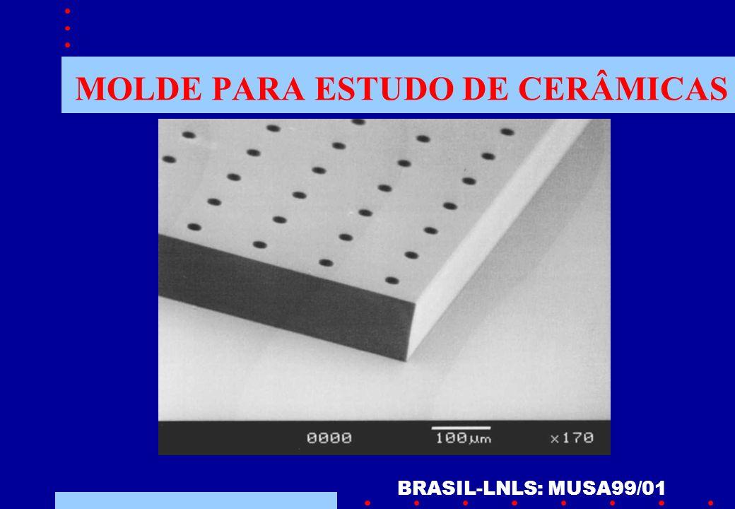 MOLDE PARA ESTUDO DE CERÂMICAS BRASIL-LNLS: MUSA99/01