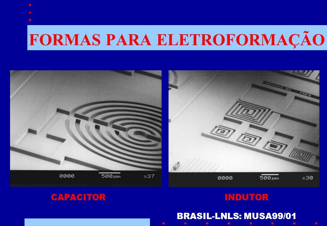 FORMAS PARA ELETROFORMAÇÃO BRASIL-LNLS: MUSA99/01 CAPACITORINDUTOR
