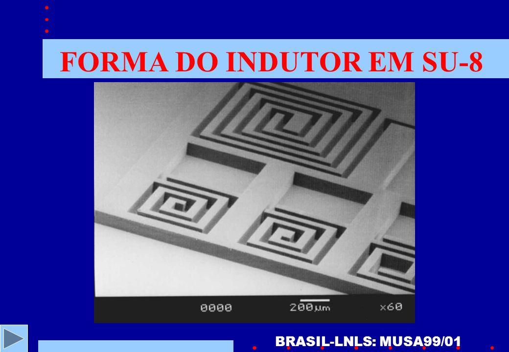 FORMA DO INDUTOR EM SU-8 BRASIL-LNLS: MUSA99/01