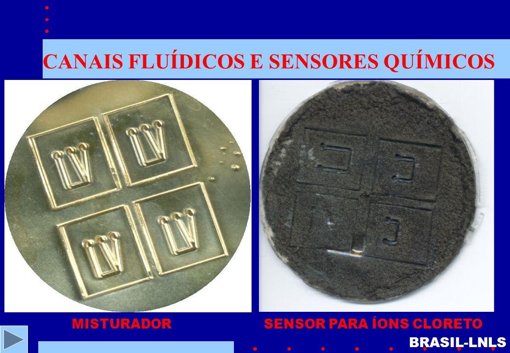 CANAIS FLUÍDICOS E SENSORES QUÍMICOS MISTURADORSENSOR PARA ÍONS CLORETO BRASIL-LNLS