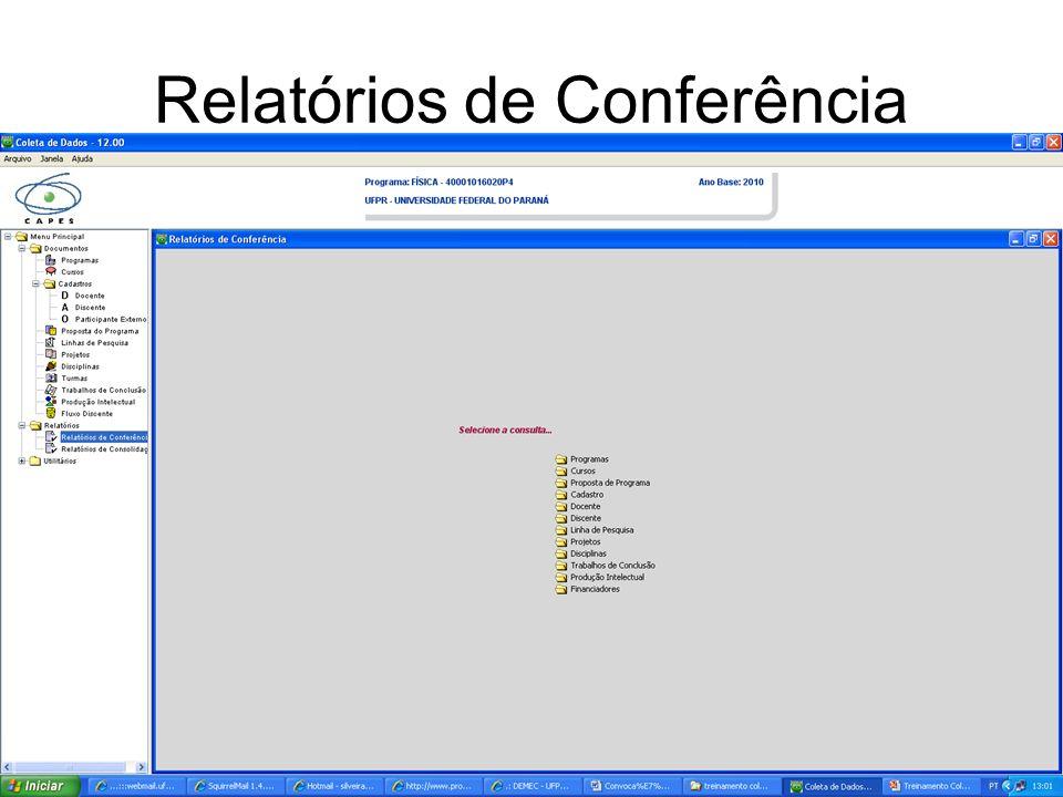 Relatórios de Conferência