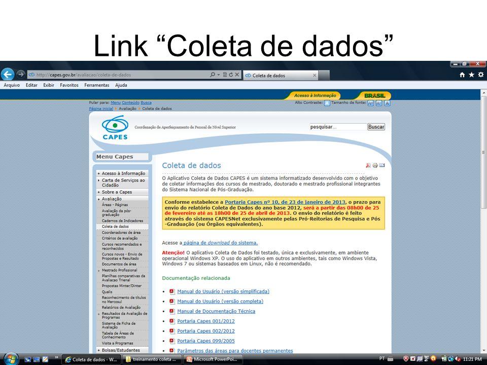 Link Coleta de dados
