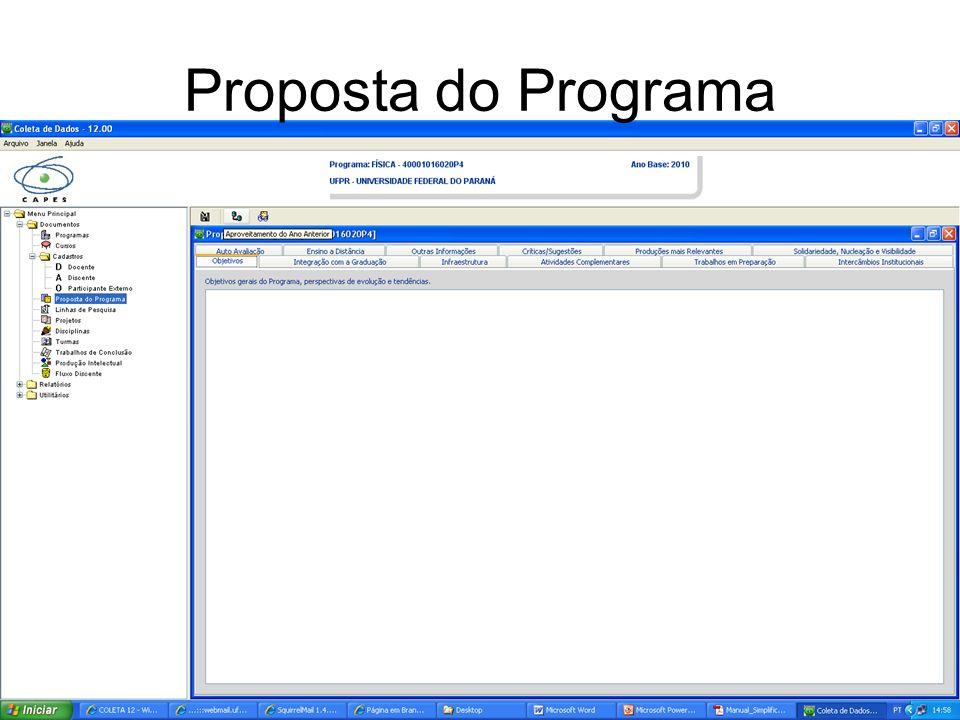 Proposta do Programa