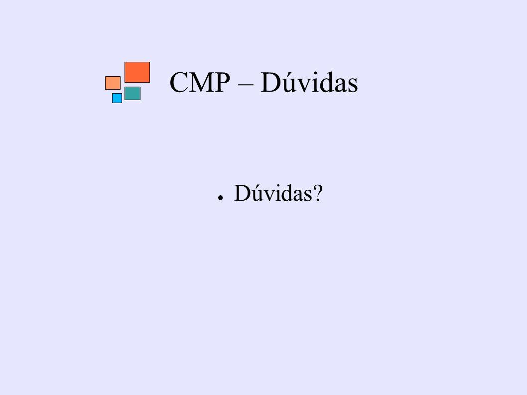 CMP – Dúvidas Dúvidas?