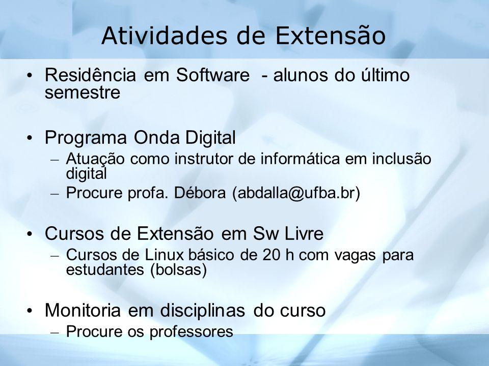 Atividades de Extensão Residência em Software - alunos do último semestre Programa Onda Digital – Atuação como instrutor de informática em inclusão di