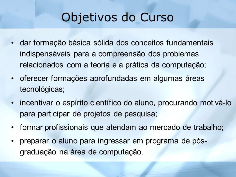 Objetivos do Curso dar formação básica sólida dos conceitos fundamentais indispensáveis para a compreensão dos problemas relacionados com a teoria e a