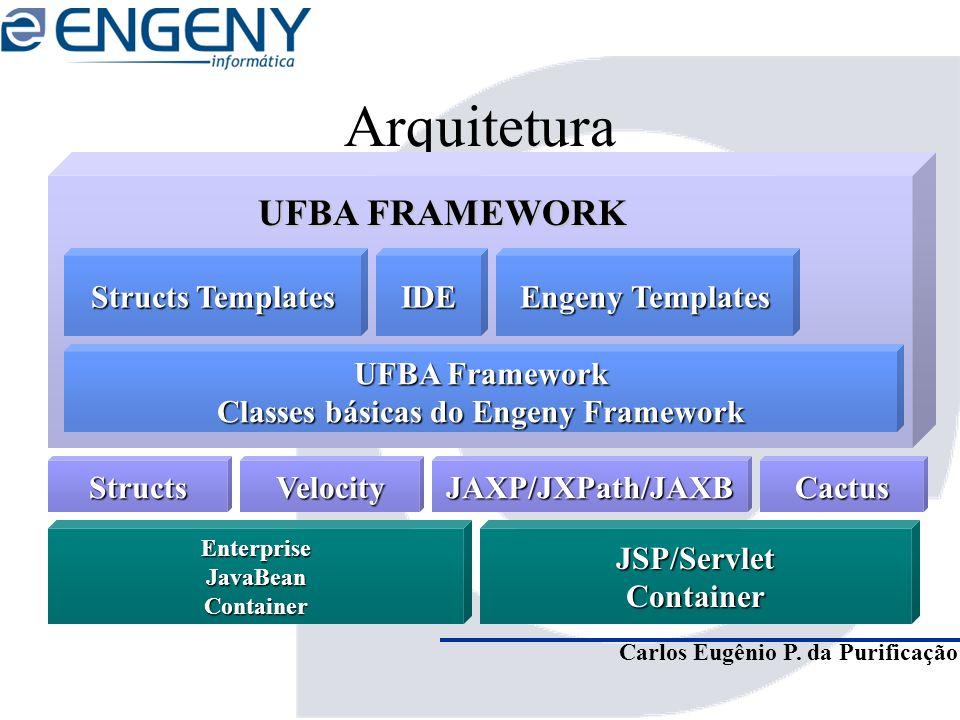 Carlos Eugênio P. da Purificação Arquitetura JSP/ServletContainer UFBA Framework Classes básicas do Engeny Framework EnterpriseJavaBeanContainer UFBA