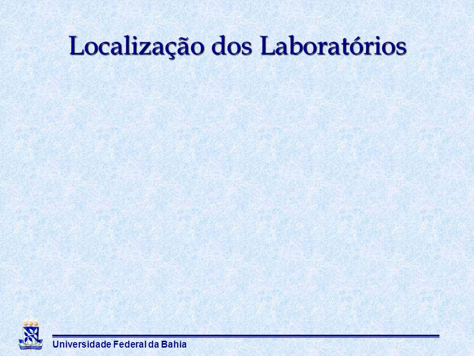 Universidade Federal da Bahia Localização dos Laboratórios