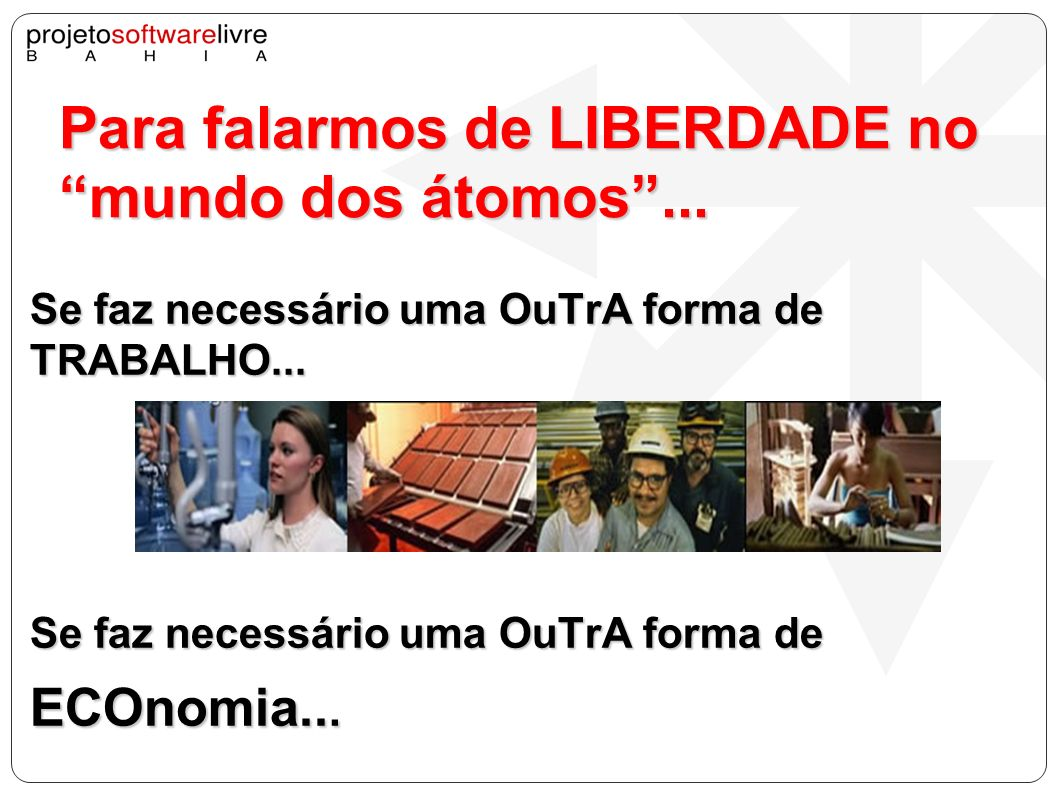 Resultado 03 Utilização e disseminação de tecnologias e da cultura livres entre as/os moradoras/es do bairro XXX.