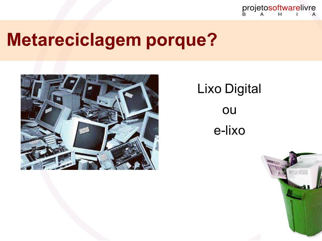 Metareciclagem porque? Lixo Digital ou e-lixo