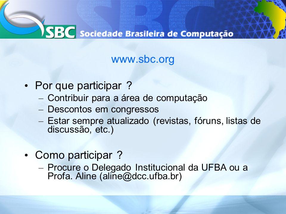 www.sbc.org Por que participar .