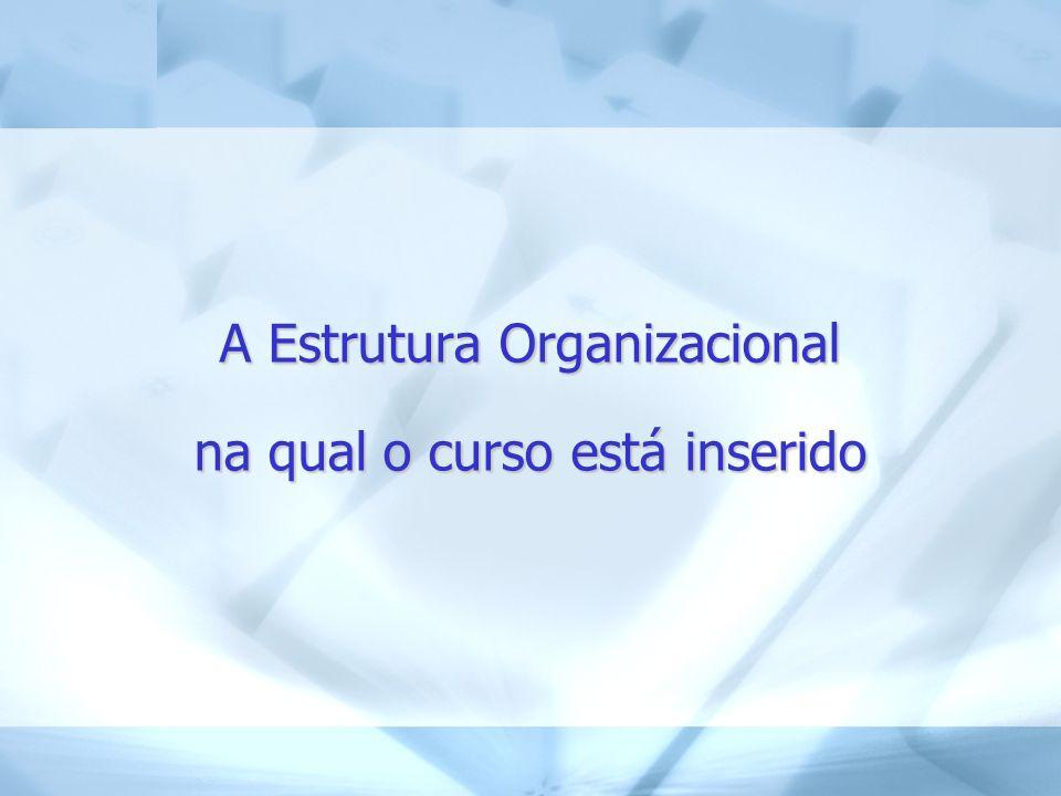 A Estrutura Organizacional na qual o curso está inserido