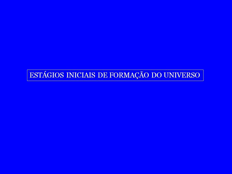 ESTÁGIOS INICIAIS DE FORMAÇÃO DO UNIVERSO