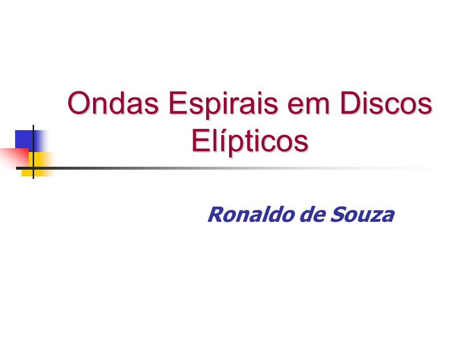 equação de Euler para o disco não perturbado Disco estacionário sem movimentos radiais Condição de equilíbrio centrífugo instantâneo em um disco elíptico
