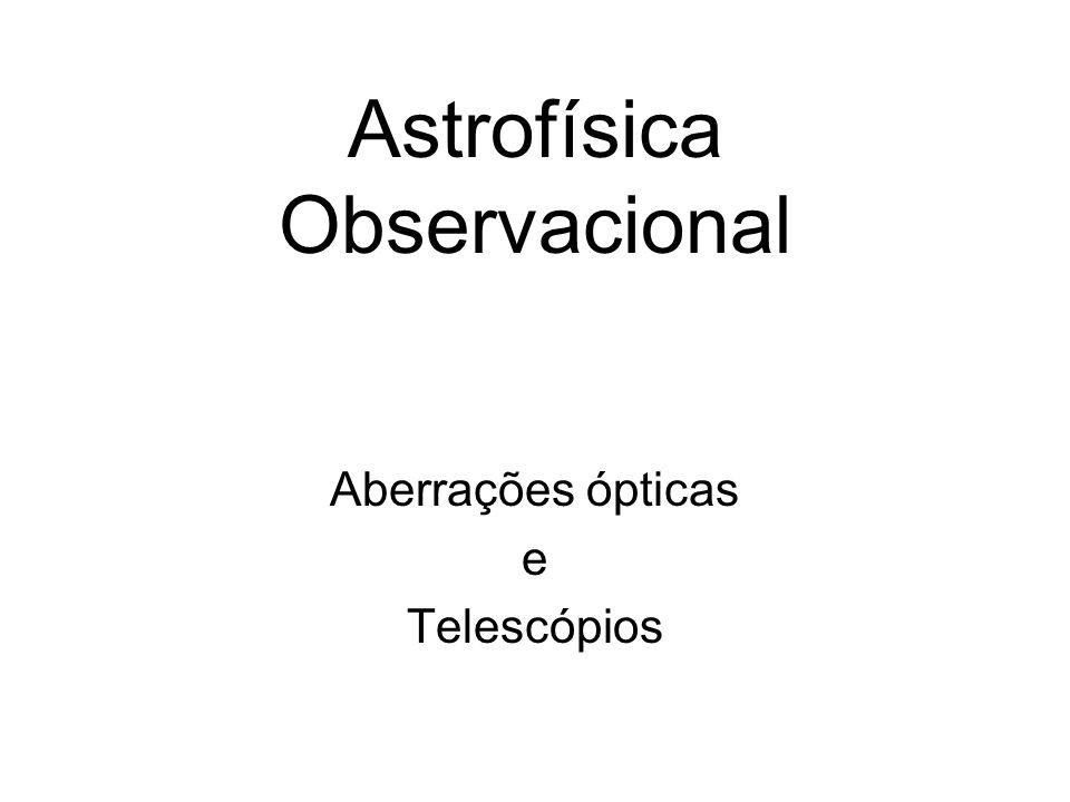Astrofísica Observacional Aberrações ópticas e Telescópios