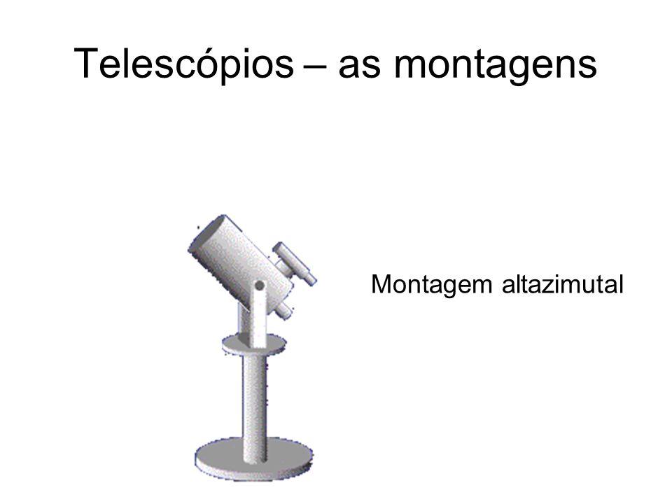 Telescópios – as montagens Montagem altazimutal