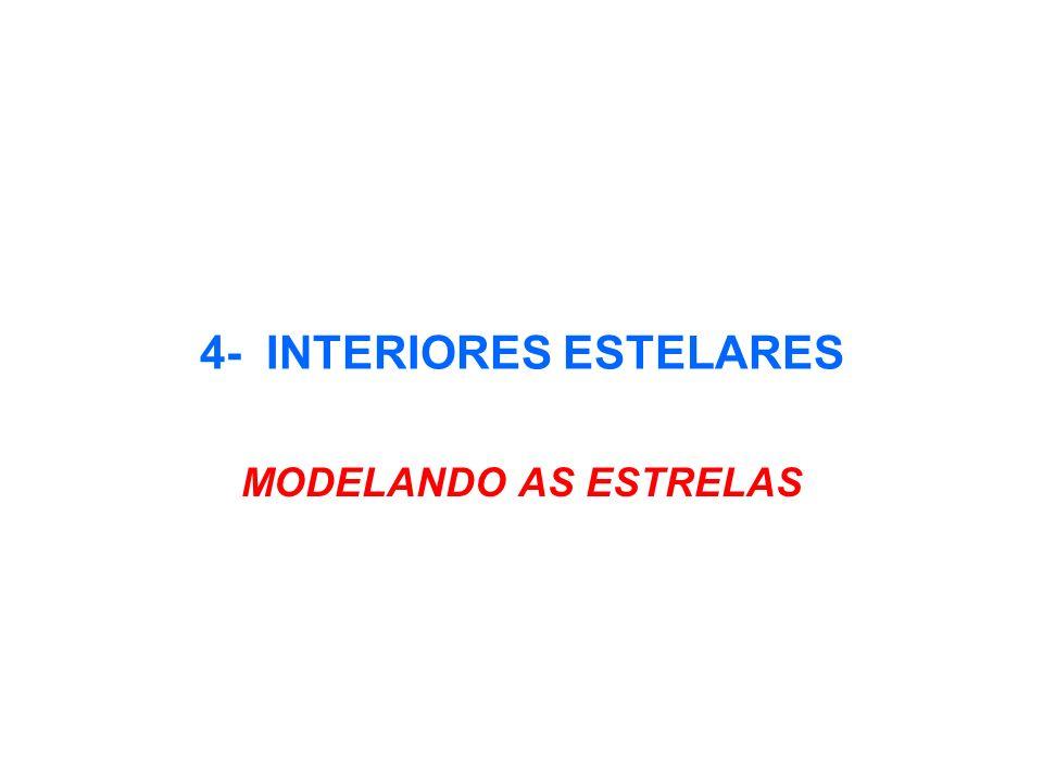 4- INTERIORES ESTELARES MODELANDO AS ESTRELAS
