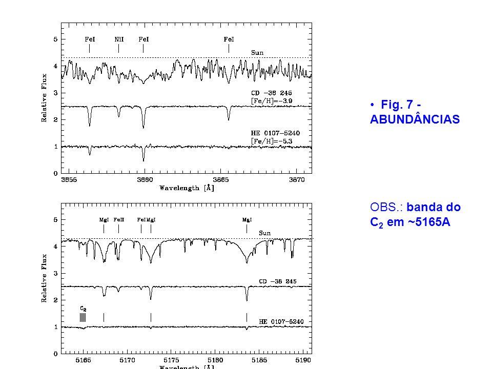 Fig. 7 - ABUNDÂNCIAS OBS.: banda do C 2 em ~5165A