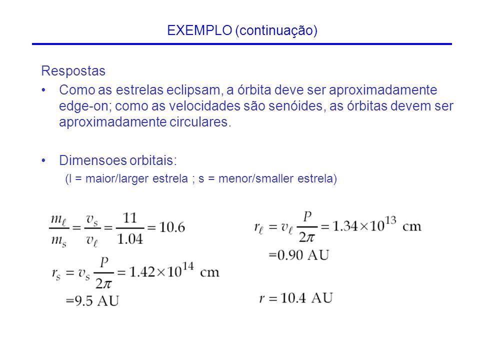 Respostas Como as estrelas eclipsam, a órbita deve ser aproximadamente edge-on; como as velocidades são senóides, as órbitas devem ser aproximadamente