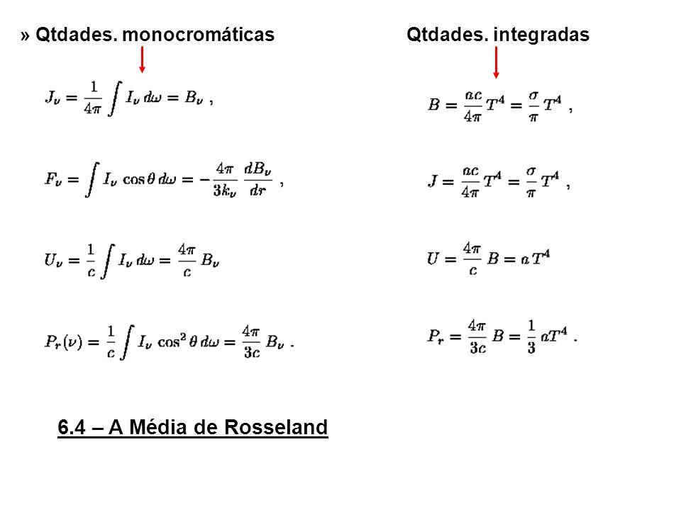 6.4 – A Média de Rosseland » Qtdades. monocromáticasQtdades. integradas