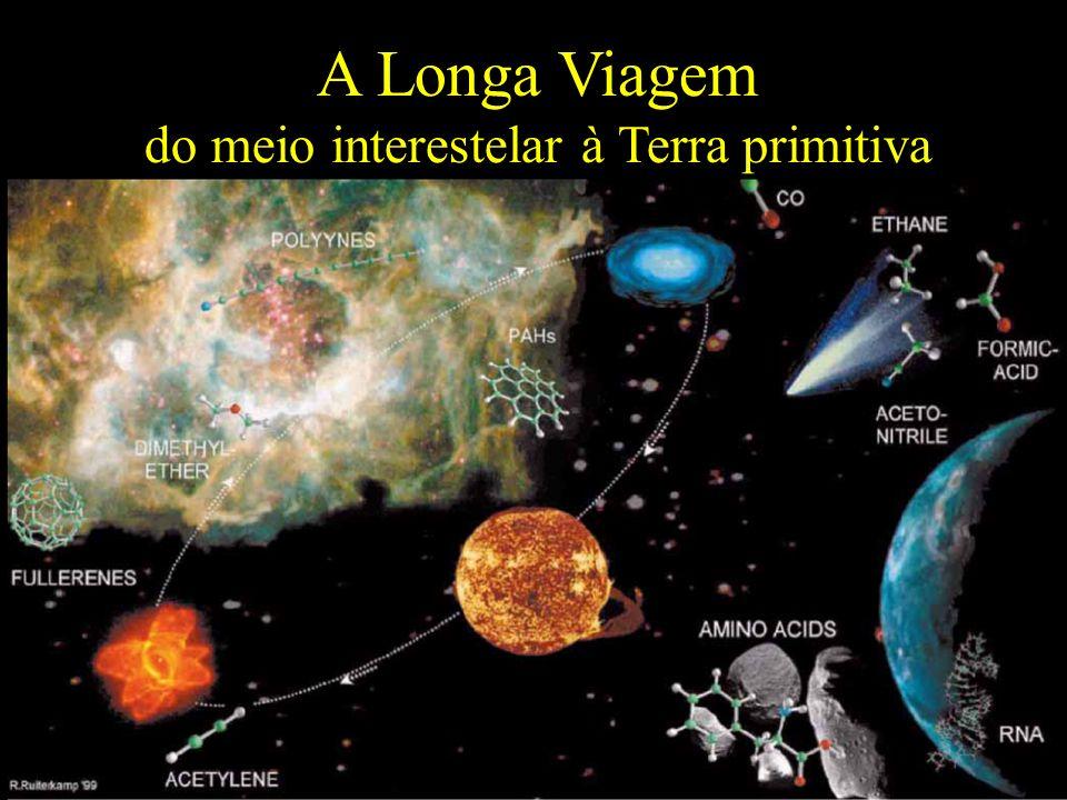 A Longa Viagem do meio interestelar à Terra primitiva