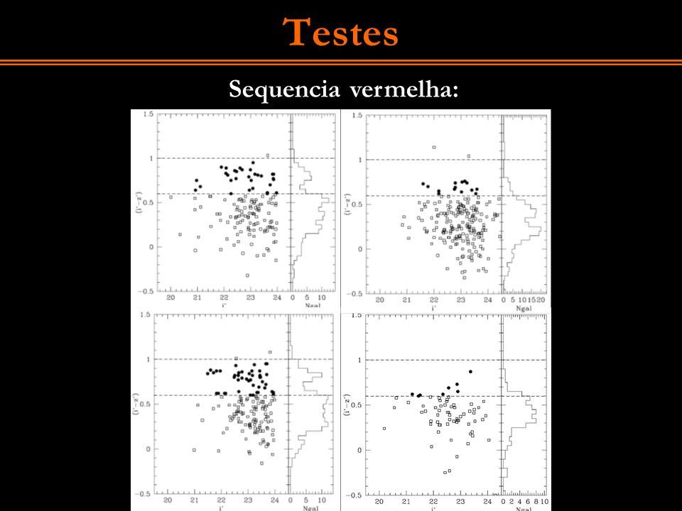 Testes Sequencia vermelha: