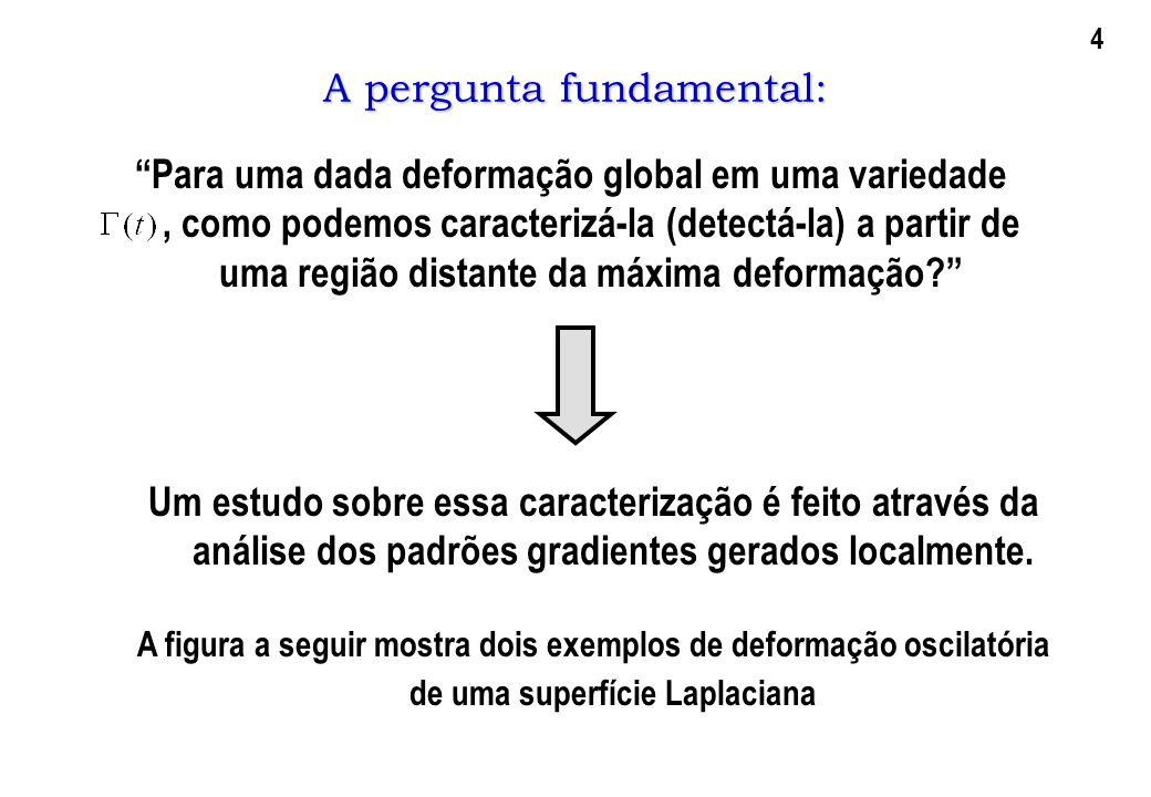 A pergunta fundamental: Para uma dada deformação global em uma variedade, como podemos caracterizá-la (detectá-la) a partir de uma região distante da