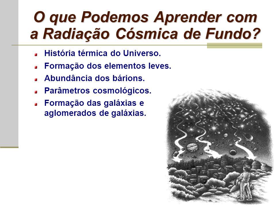 Superfície de Último Espalhamento No final da era da radiação os fótons da radiação de fundo escoaram livremente gerando a chamada superfície de último espalhamento.