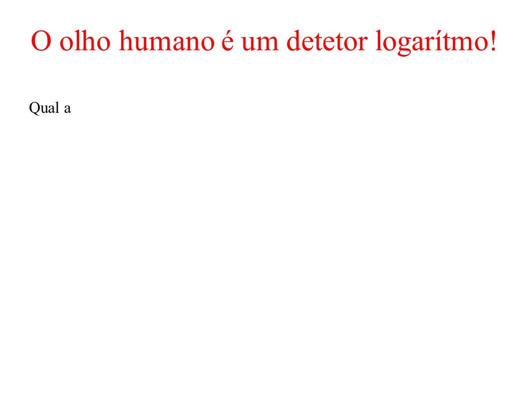 O olho humano é um detetor logarítmo! Qual a