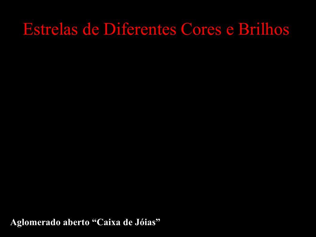 Estrelas de Diferentes Cores e Brilhos Aglomerado aberto Caixa de Jóias