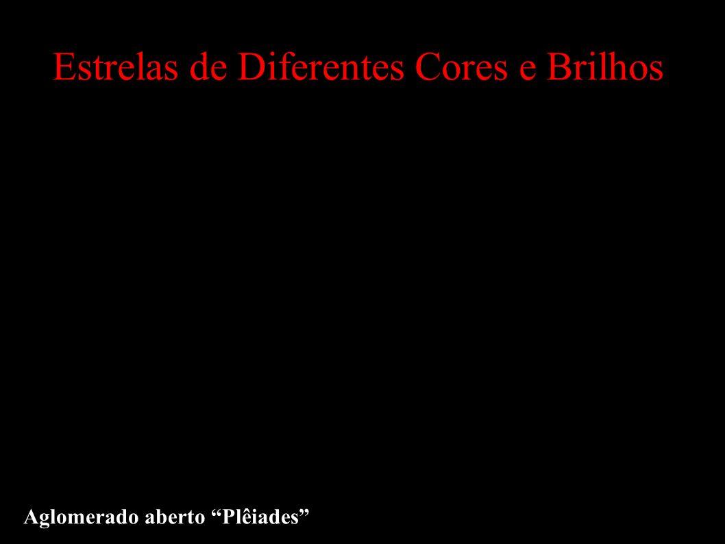 Estrelas de Diferentes Cores e Brilhos Aglomerado aberto Plêiades