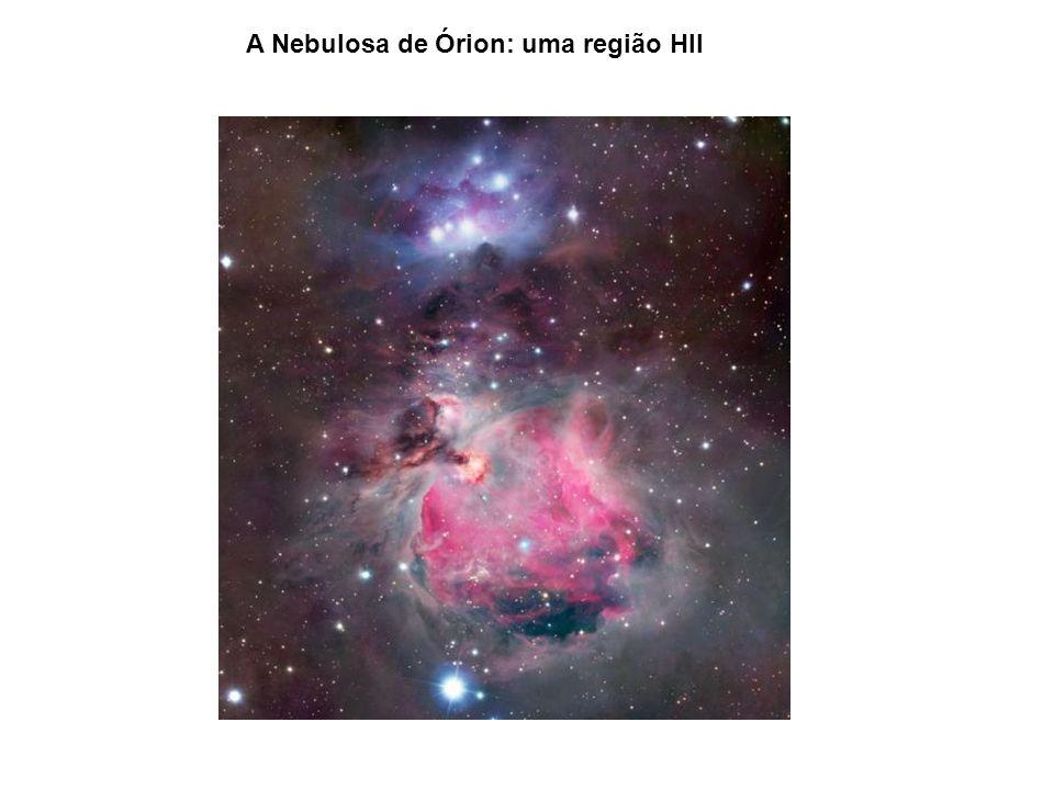 A Nebulosa de Órion: uma região HII