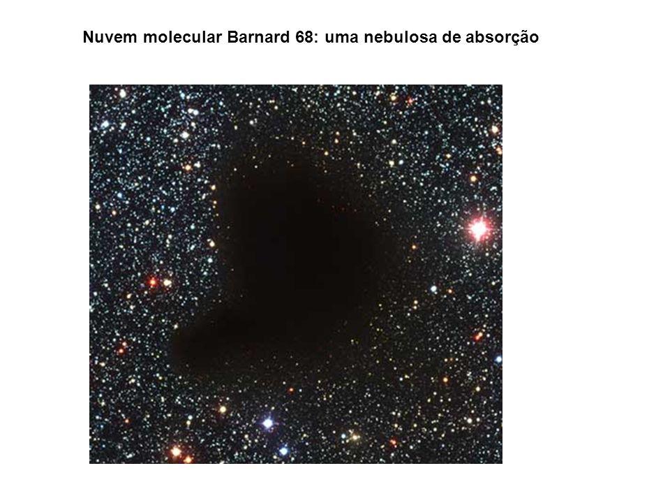 Nuvem molecular Barnard 68: uma nebulosa de absorção