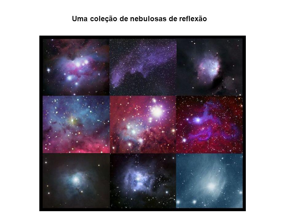 Uma coleção de nebulosas de reflexão