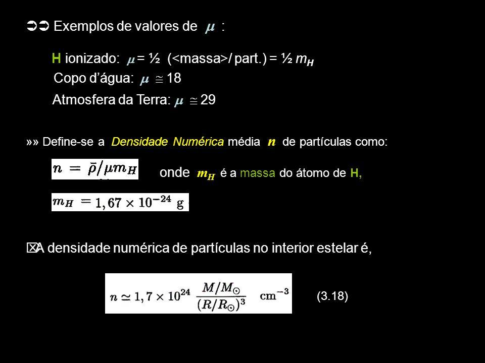 14 (3.24) c) Para partículas idênticas e indistinguíveis, de spin inteiro (bósons), como fótons, partículas alfa e mésons, há que aplicar-se a estatística de Bose-Einstein: (3.25) »» Além da densidade de partículas usa-se às vezes o fator de ocupação, ou índice de ocupação f(E) = n(E)/g(E), que é ~