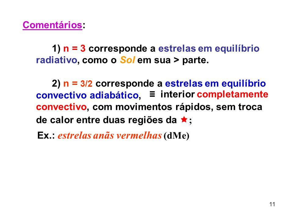 12 »» A equação de Lane-Emdem: seja a eq.