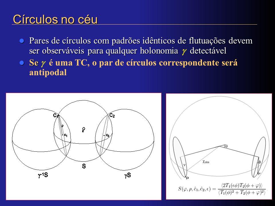 Pares de círculos com padrões idênticos de flutuações devem ser observáveis para qualquer holonomia detectável Pares de círculos com padrões idênticos