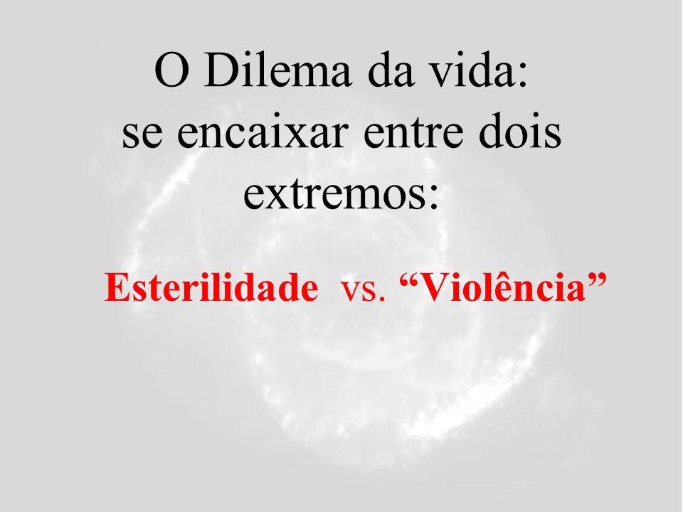 O Dilema da vida: se encaixar entre dois extremos: Esterilidade vs. Violência